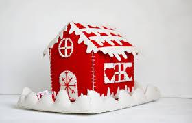 christmas felt house christmas felt box christmas candy box