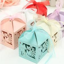 Where To Buy Ribbon Candy Aliexpress Com Buy Hollow Laser Cut Bride Groom Mr Mrs Wedding