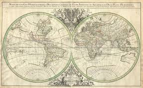 Ou Map File 1691 Sanson Map Of The World On Hemisphere Projection