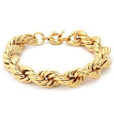 gold bracelet rope images Run dmc fat 16mm gold rope dookie chain bracelet hip hop jewelry jpeg
