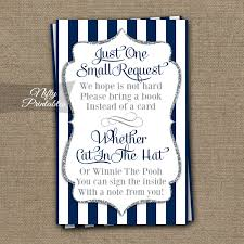 bring a book baby shower printable bring a book baby shower insert navy blue silver