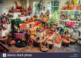 colorful folk art from mexico is displayed in an arts and crafts