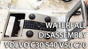how to disassemble waterfall center console volvo c30 s40 v50 c70