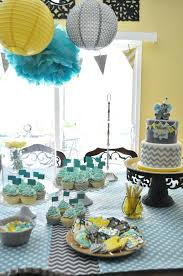 yellow baby shower decorations fascinating teal baby shower decoration yellow gray aqua baby