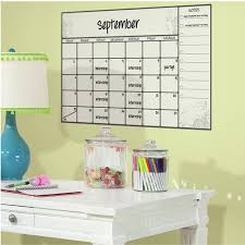 scroll dry erase calendar peel and stick wall decals walmart com