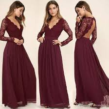 wedding dress maroon western country style maroon chiffon 2017 bridesmaid dresses