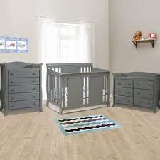 Convertible Crib Nursery Sets Painted Grey Nursery Furniture Sets Trends Inside Crib And Dresser