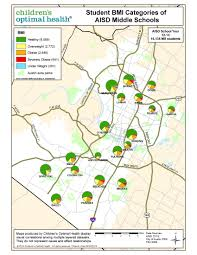 Austin Area Map by Children In Healthy Weight Zone
