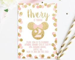 29 best minnie mouse birthday invitations images on pinterest
