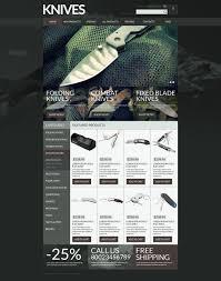 website template 52697 knives shop knife custom website template