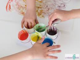 homemade edible finger paint learning 4 kids