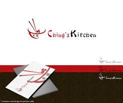 elegant modern logo design for ching u0027s kitchen by safdarhabibs