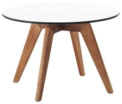 contemporary coffee table wooden laminate round adelaide