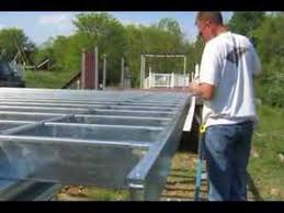 light gauge steel deck framing deck on steel youtube construction tech robotic pinterest