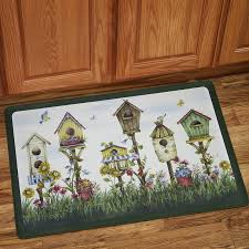 Anti Fatigue Kitchen Rugs Sweet Home Collection Birdhouse Anti Fatigue Kitchen Mat U0026 Reviews