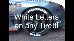 installing white letters on your tires youtube