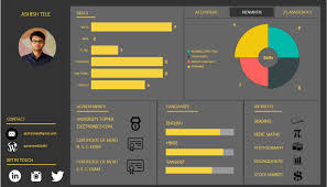 interactive resume an interactive resume power bi ashish tele pulse linkedin