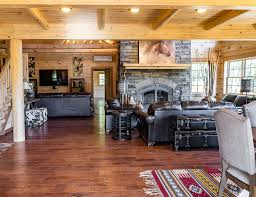 garage with inlaw suite sold roaring brook log homes 732 245 2962
