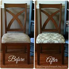 Recover Chair How To Reupholster A Dining Chair Upholstery New Foam Recover Ideas