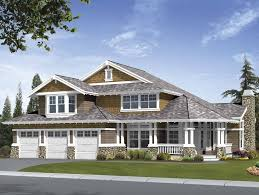 Country Craftsman House Plans Diagonal Axis Adds Visual Appeal To Floor Plans Hwbdo55306