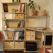 bureau bibliothèque intégré espace de travail modulable modulotheque com