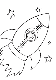 free printable rocket ship coloring pages for kids inside page