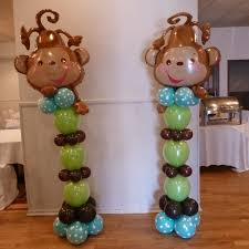 see my work on facebook rosielloons monkey theme baby shower