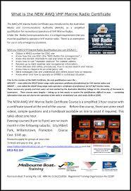 Radio Training Courses New Awq Vhf Marine Radio Certificate Yachting Victoria Sportstg