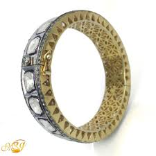 silver gold plated bracelet images Msgvb002 925 sterling silver polki victorian style bangle with jpg