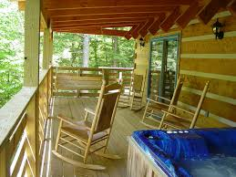 cabin porch hot tubs and porches secluded log cabin vacation rentals hot