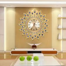 european luxury quartz creative large wall clock art golden