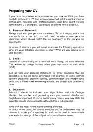 Resume Personal Statement Examples Cv Writing Tips Personal Statement