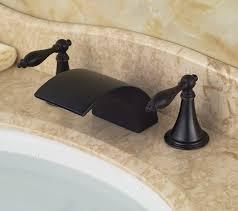 Amazon Bathroom Sink Faucets by Rozin Luxury Waterfall Dual Knobs Sink Faucet Widespread Basin