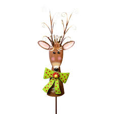the top collection small ornamental deer with stake from