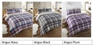 Tartan Flannelette Duvet Cover Angus Reversible Flannelette Duvet Cover Set From Century Textiles