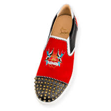 christian louboutin naza mom and dad flat suede multi pronounce