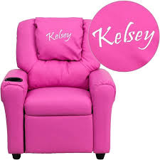 kids reclining chairs personalized deluxe padded red vinyl kids