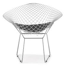 bertoia style diamond wire chair multiple cushion colors