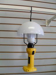 dewalt 18 volt battery powered light lamp shade u0026 bulb combo set