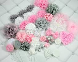 diy baby hair bows baby shower headband kit jumbo deluxe diy hair bow kit