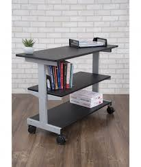 desk with shelves on side side desk shelves add on stand up desk store