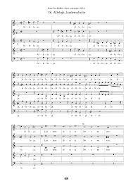Color Of The Wind Alleluja Laudem Dicite Hassler Hans Leo Imslp Petrucci Music