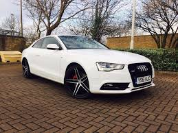 audi a5 coupe 2 0 diesel 2dr 177bhp quattro white s line spec in