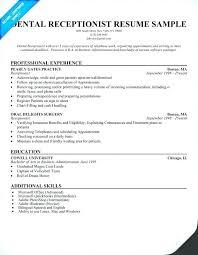resume exles for receptionist desk receptionist resume exle receptionist resume dental
