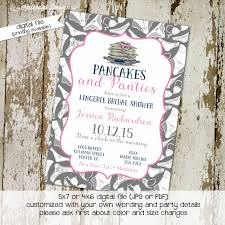 bridal shower invitation pancakes and panties lingerie panty
