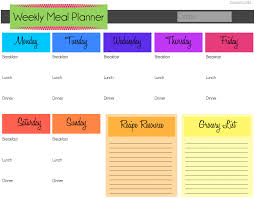 meal planning calendar template great printable calendars