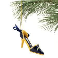 los angeles chargers team high heel shoe ornament shop chargers