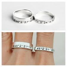 Personalized Dog Tags For Couples These Custom Coordinates Rings Are Great Unique Personalized