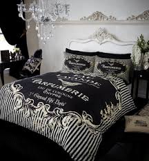 Premium Duvet Covers Label Modern Premium Printed Duvet Set Black
