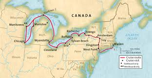 map of the erie canal great lakes cruise company great waterways